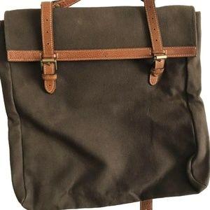 Mulberry Unisex Brown Canvas Messenger Bag